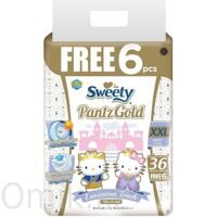 Трусики Sweety Pantz Gold размер XXL 17–25 кг 36+6 шт