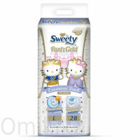 Трусики Sweety Pantz Gold размер L 11–15 кг 28 шт
