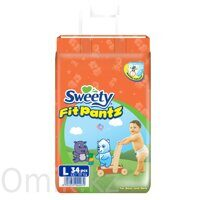Трусики Sweety Fit Pantz размер L 11–15 кг 34 шт