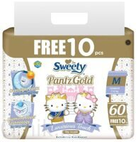 Трусики Sweety Pantz Gold размер M 7–12 кг 60+10 шт