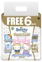 Трусики Sweety Pantz Gold размер XL 14–18 кг 44+6 шт